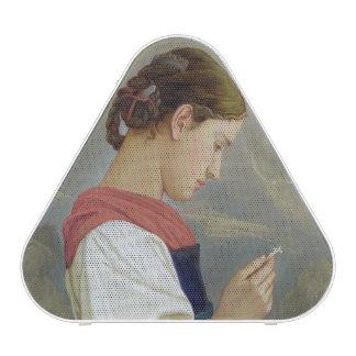 Tyrolean Girl Contemplating a Crucifix, 1865 Speaker