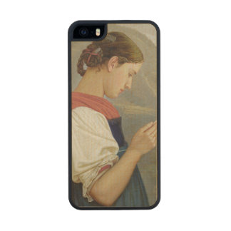 Tyrolean Girl Contemplating a Crucifix, 1865 Carved® Maple iPhone 5 Slim Case