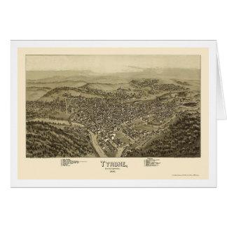 Tyrone, PA Panoramic Map - 1895 Card