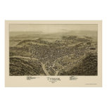 Tyrone, PA Panoramic Map - 1895 Posters