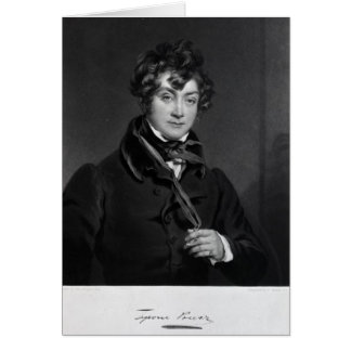 Tyrone Power, engraved by James Sands, c.1833 Card