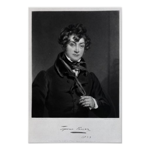 Tyrone Power, engraved by James Sands, c.1833 Print