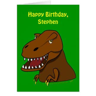 Tyrranosaurus divertido Rex embroma nombre del per Tarjeta