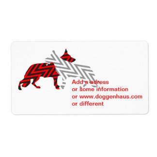 Tysk schäferhund label