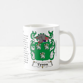Tyson, the History, the Meaning and the Crest Coffee Mug