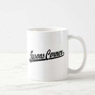 Tysons Corner script logo in black Coffee Mug