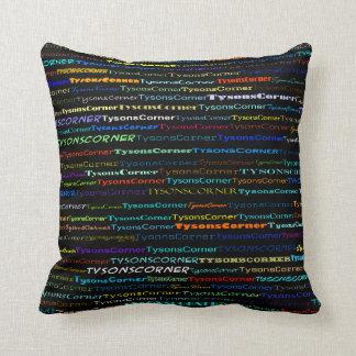 Tysons Corner Text Design I Throw Pillow