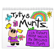Tyty's Months Calendar at Zazzle