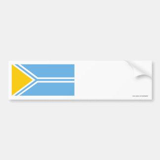 Tyva Republic Flag Bumper Sticker