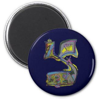 Tzadik 2 Inch Round Magnet