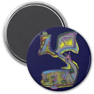 Tzadik 3 Inch Round Magnet
