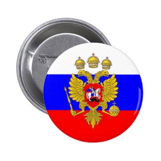 Tzar de Muscovia, bandera de Rusia Pin Redondo De 2 Pulgadas