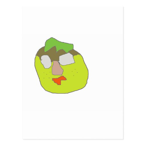 Tze Tsi character comic cartoon Postcard