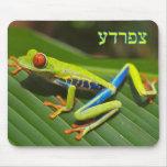 """Tzefardea en el significado hebreo """"rana """" alfombrillas de ratón"""