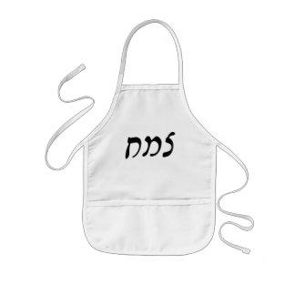 Tzemach - escritura de Rashi del hebreo Delantal Infantil