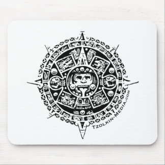 Tzolkin Sunstone Logo Mouse Pad