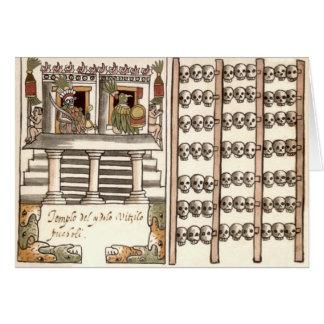 Tzompantli Skull Rack Aztec Temple Greeting Card