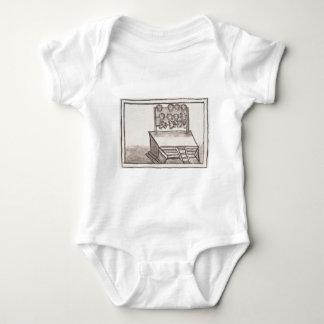 Tzompantli Skull Rack Florentine Codex Baby Bodysuit