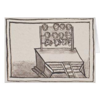 Tzompantli Skull Rack Florentine Codex Greeting Card