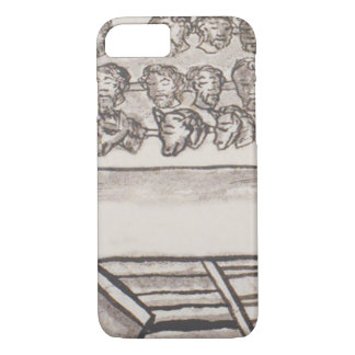Tzompantli Skull Rack Florentine Codex iPhone 8/7 Case