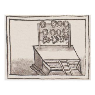 Tzompantli Skull Rack Florentine Codex Postcard