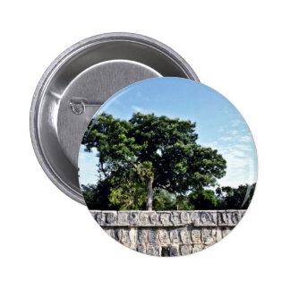 Tzompantli-Wall Of Skulls, Chichen Itza Buttons