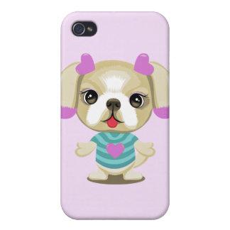 tzu de shih del perrito iPhone 4/4S carcasa