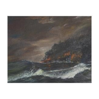 U107 750 days 1993 canvas print