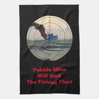 U-29 - Stop Pebble Mine Kitchen Towel
