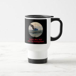 U-29 - Stop Pebble Mine 15 Oz Stainless Steel Travel Mug