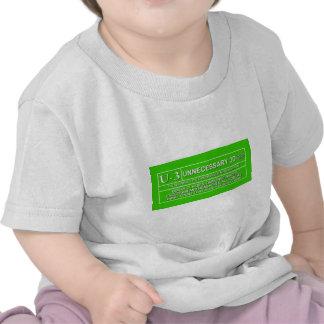 U-3 clasificado camisetas