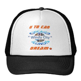 U al logotipo 03 del sueño de la poder gorras de camionero