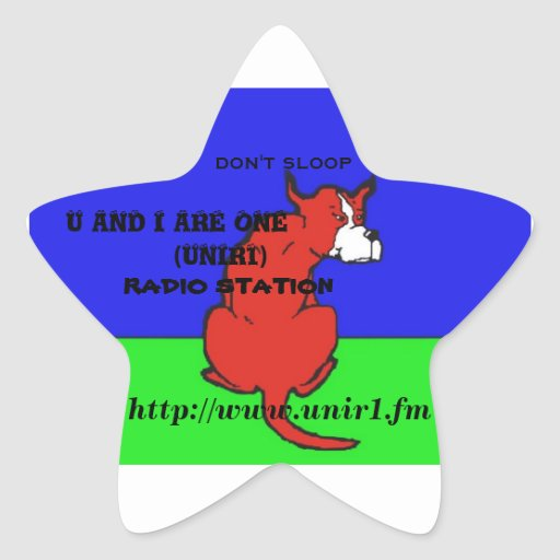 U AND I ARE ONE RADIO STATION STAR STAR STICKER