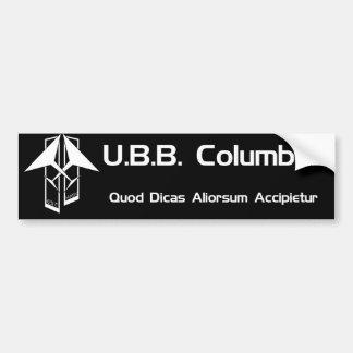 U.B.B. Pegatina para el parachoques de Columbus Pegatina Para Auto