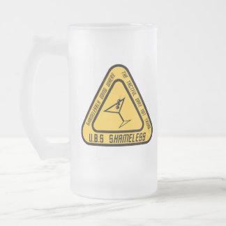 U.B.S Shameless Frosted Beer Mug