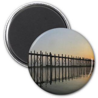 U-Bein Bridge 2 Inch Round Magnet