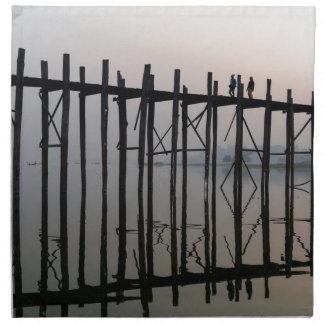 U Bein Bridge, Amarapura Cloth Napkin