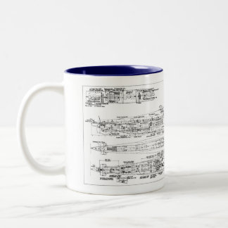 u-boat standard VIIc Two-Tone Coffee Mug