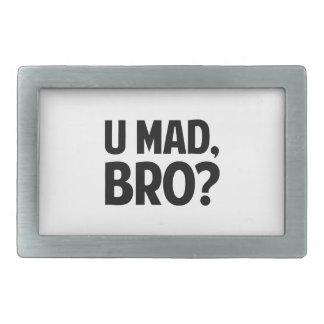 ¿U Bro enojado? Hebillas Cinturon Rectangulares