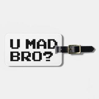 ¿U BRO ENOJADO? - Internet/meme/IRC/chat/4chan/tro Etiquetas Para Maletas