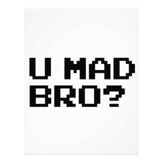 ¿U BRO ENOJADO? - Internet/meme/IRC/chat/4chan/tro Membrete A Diseño