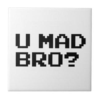 ¿U BRO ENOJADO? meme/charla/irc/4chan/troll/trolli Azulejo Cuadrado Pequeño