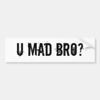 ¿U Bro enojado? Pegatina Para Auto