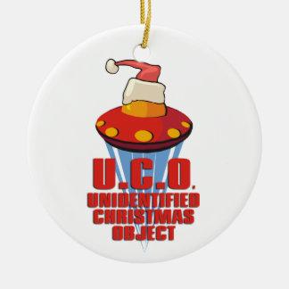 U.C.O. (Objeto no identificado del navidad) Adorno Redondo De Cerámica