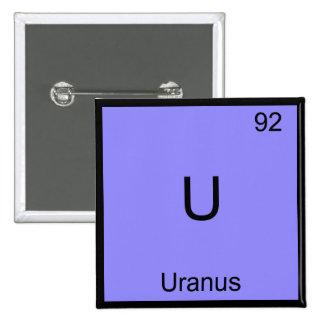 U - Camiseta divertida del símbolo del elemento de Pin Cuadrado
