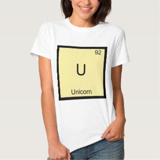 U - Camiseta divertida del símbolo del elemento de Poleras