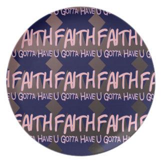U consiguió tener placa de la fe plato para fiesta
