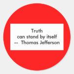 ¡!!! U crea la verdad puede hacer una pausa sí Pegatina Redonda