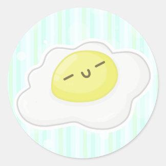 - u - cute face classic round sticker