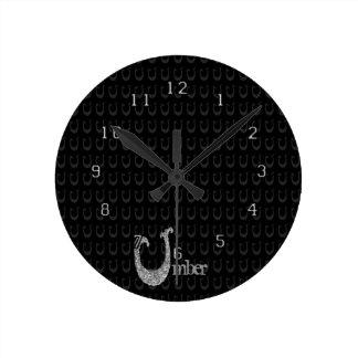 U - El alfabeto de Falck (plateado) Relojes De Pared